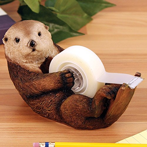 Otter Tape Dispenser - Cute Water Animal Office Desk Accessory