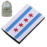 3d gestickter 4-Sterne-Armband-Flagge Chicago Alumni