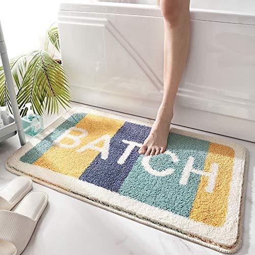 SDINAZ Alfombrillas de baño Antideslizantes Lavables Alfombras de baño Moquetas Alfombrillas para bañera para Ducha 80 x 50 cm