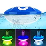 Cootway Floating Pool Lights, Underwater Light Show Pool Lights Floating with 7 Light Modes, Colorful Bathtub Light Pool Accessories, Swimming Pool Light for Pool Underwater Pond Hot Tub Party Decor