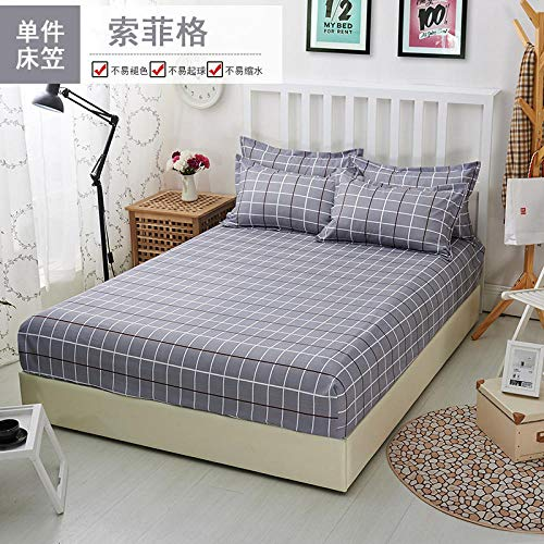 GTWOZNB Soft Plain Dyed Fitted Bed Sheets,Double,King, Bed sheet printing elastic-5_120*200cm