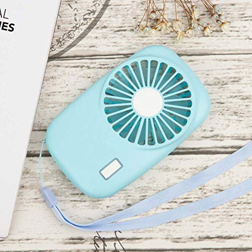 Chutoral USB-ventilator, stille mini-handventilator, mini-ventilator, USB-tafelventilator, oplaadbaar voor reizen en thuis, outdoor blauw