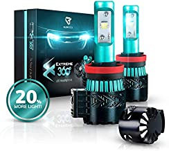 Glowteck LED Headlight Bulbs Conversion Kit - H11 (H8/H9) Cree XHP50 Chip 12000 Lumens/Pair 68 Watt 6500 Kelvin 2 Year Warranty