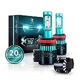 Glowteck LED Headlight Bulbs Conversion Kit - H11 (H8/H9) Cree XHP50 Chip 12000 Lumens/Pair 68 Watt 6500 Kelvin