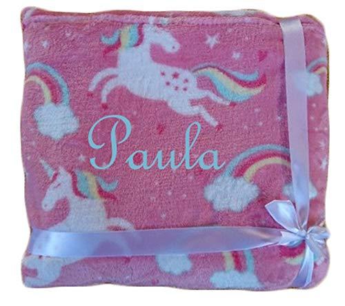 Wuff-Dogsworld knuffelig warme grote kinderdeken eenhoorn roze microvezel blanket Unicorn