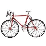 Tnfeeon Mini Bicicleta de casa de muñecas, Regalo de Modelo de vehículo de Bicicleta simulada de aleación 1:12 para Amante o coleccionista de Modelos de Bicicleta(Red)
