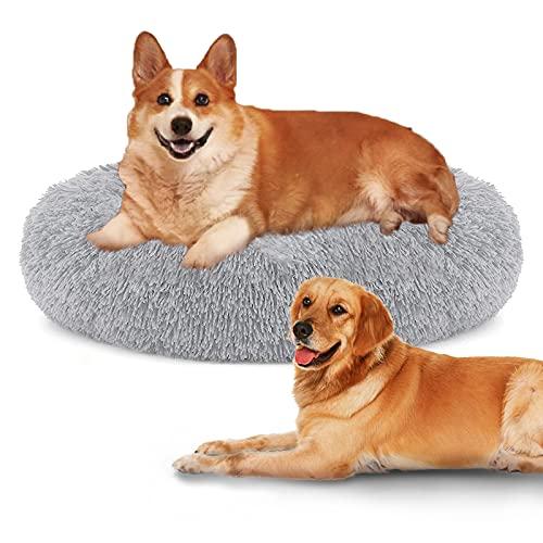 HyAdierTech Cuccia per Cane, Cuccia per Gatti Lettino per Cani Gatti Rotondo in Peluche Morbido da Interno Comfortevole Inodoro Lavabile Cuccia a Ciambella per Gatti e Cani di Media Taglia