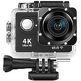 DZSF H9 Action Camera WiFi Ultra HD Mini Cam 4K / 30FPS 1080P / 60fps 720P / 120FPS Subacquea Impermeabile Video Macchina Fotografica di Sport,A