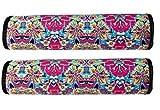 2x Auto Gurtschutz Sicherheitsgurt Schulterpolster Schulterkissen Autositze Gurtpolster für Kinder und Erwachsene (Türkis/Lila/Schwarz) - von HECKBO