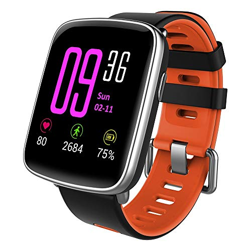 YAMAY Smartwatch Android iOS Orologio Fitness Tracker Uomo Donna Smart Watch Cardiofrequenzimetro da Polso Impermeabile IP68 Contapassi Smartband Activity Tracker Cronometro