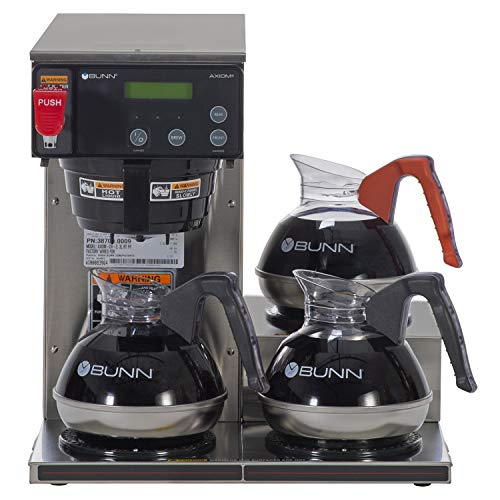 BUNN Axiom 15-3, Automatic Commercial 12-Cup Coffee Maker, 3 Lower Warmers, 38700.0002