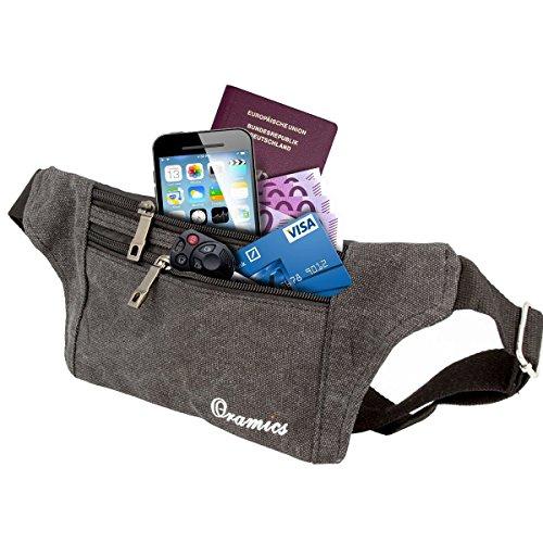 Oramics Sport elastische Bauchtasche - Ideales Sport- und Reise-Bauchtasche - Sichere Verstauung - Unauffälliges Tragen unter der Kleidung - Lauftasche