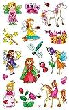 AVERY Zweckform 53208 Kinder Papier-Sticker Fee, Prinzessin, Einhorn 34 Aufkleber (für Mädchen, Kindergeburtstag, Mitgebsel, Gastgeschenk, Schatzsuche, zum Spielen, Sammeln, Basteln, Verschenken) -