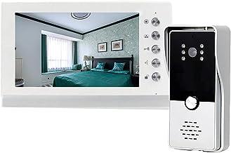 MLZWS 7 Inch Video Deurtelefoon Deurbel Intercom Systeem Met Camera 1000TVL Ontgrendel Praten Waterdicht (Size : Set 1)