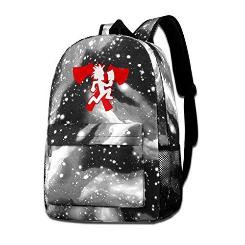 Rogerds Hatchetman ICP Logo Fashion Mochila de Portátil Starry Sky Backpacks Travel Daypack Bags for Hombre Mujer