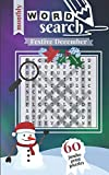 Festive December: 60 Jumbo Print Puzzles (Monthly Word Search)