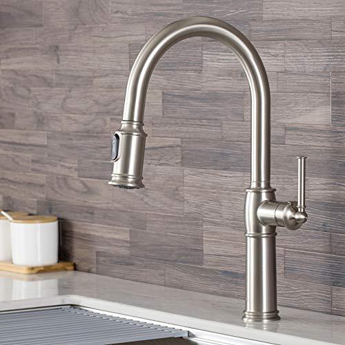 Kraus KPF-1682SFS Sellette Single Handle Pull-Down Kitchen Faucet, Spot Free Stainless Steel