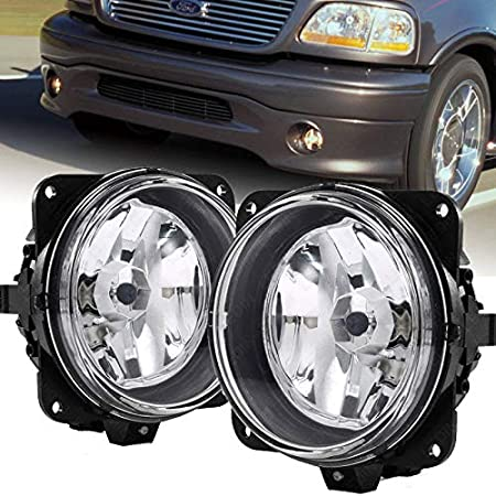Amazon Com Uframe Compatible With Ford 2000 2001 2003 2004 F150 Harley Davidson Fog Lights Pair Left Right Without Brackets Automotive
