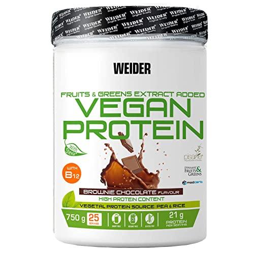 Weider Proteína Vegana, Sabor Brownie...