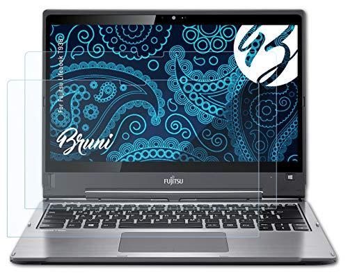 Bruni Schutzfolie kompatibel mit Fujitsu Lifebook T936 Folie, glasklare Bildschirmschutzfolie (2X)