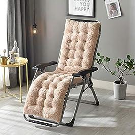 Coussin de chaise de décoration de bureau à domici Coussin d'hiver Recliner, pliant Rocking Chair plus épais velours…
