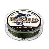 ヘラクレス(HERCULES) PEライン 釣りライン 4本編み 釣り糸 色落ちない PE釣糸 高飛距離 真円近似 充実なタイプ 高強度 高感度 - グリーン 0.2号 (2.7kg/6lb 0.08mm)