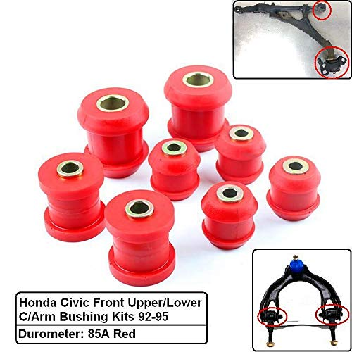 Polyurethane Front Upper/Lower Control Arm Bushing Kits For Honda Civic EG 92-95 (Fits:Acura Integra 94-01)