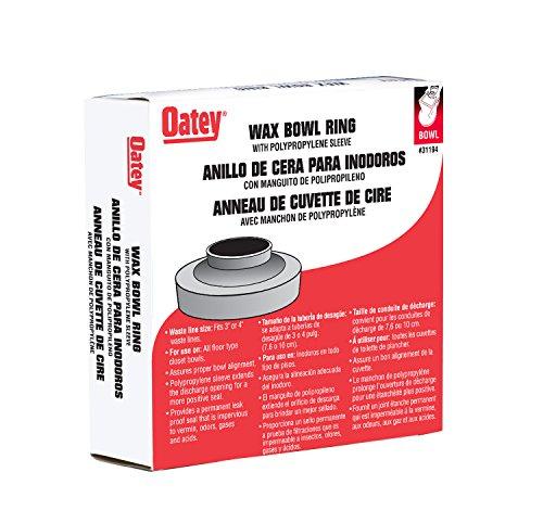 Oatey 31194 Heavy Duty Wax Bowl Ring with Sleeve