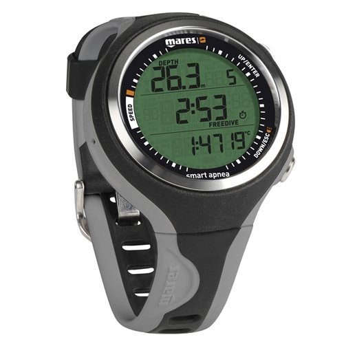 Mares Smart Apnea Diving Computer - Black/Black, One Size BKGR by