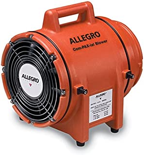 """Allegro Industries 9533 Plastic Compaxial Blower, AC, 8"""""""