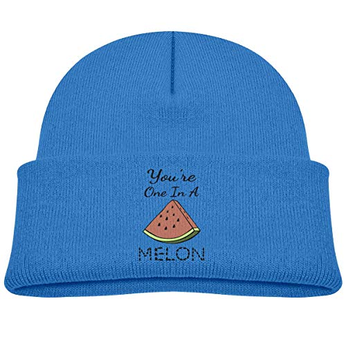 IMERIOi One in A Melon Boys and Girls Soft Knitted Cap Happens Skull Cap Hat M
