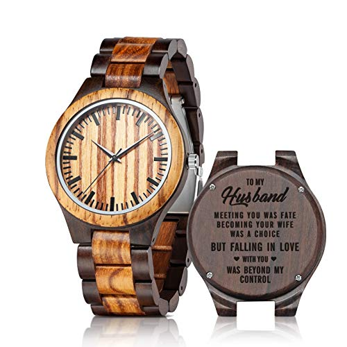 Custom Engraved Wood Watches for Husband