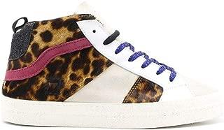 D.A.T.E. Luxury Fashion Womens W311HWAMLE Brown Hi Top Sneakers   Fall Winter 19