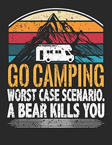 Mein Reisetagebuch: Dein persönliches Tourenbuch für Wohnmobil, Wohnwagen und Campingreisen ♦ Vorlage für Streckenaufzeichnungen, Bewertungen, ... A4+ Format ♦ Motiv: Go camping 26