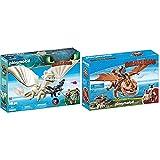 PLAYMOBIL DreamWorks Dragons Furia Diurna y Bebé Dragón con Niños, a Partir de 4 Años (70038) + DreamWorks Dragons Barrilete y Patapez, A Partir de 4 años (9460)