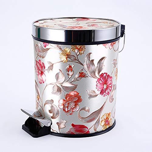 DelongKe Push Type afvalbak slanke vuilnisbak voor keuken toilet Clamshell Cover Pop Up afvalbak