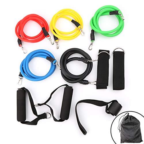 ruiruiNIE 11pcs / Set Fitness Training Látex Bandas de Resistencia Tubos de Yoga Cuerda de tracción: vea Las imágenes.