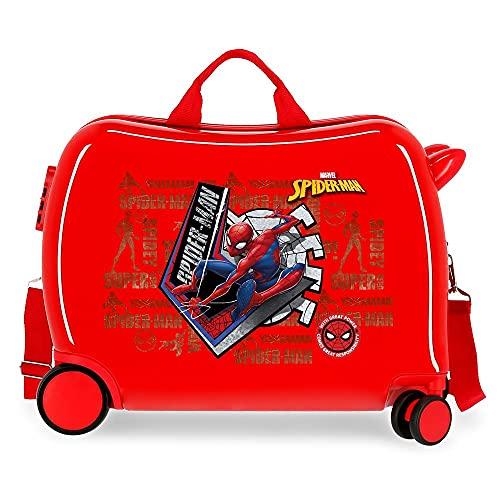 Marvel Spiderman Great Power Maleta Infantil Rojo 50x38x20 cms Rígida ABS Cierre de combinación Lateral 34 1,8 kgs 4 Ruedas Equipaje de Mano