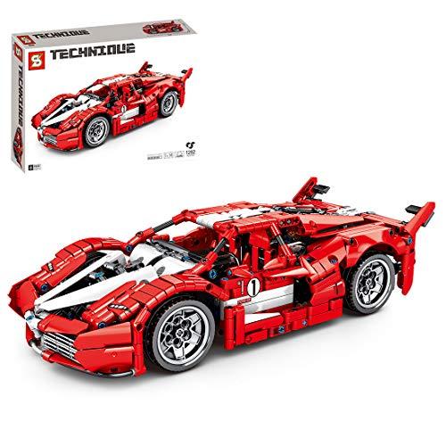 Trueornot 1282 piezas de construcción para coche, modelo de coche deportivo, compatible con la técnica Lego