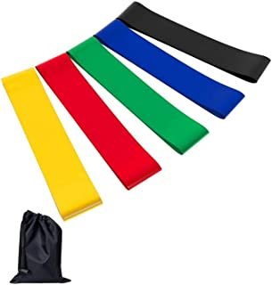 Exercise resistance Loop Bands - Set of 5,12 inch Workout Bands With Handy Carry Bag and Instructions Fit Simplify Best fo...