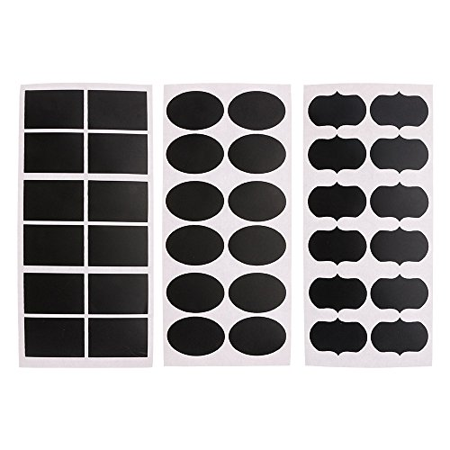 Huayang 3 Feuilles Mini Rectangle Ellipse Fleur Ardoise Tableau Noir Signes étiquettes Sticker Autocollant