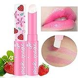 Magic Strawberry Temperatura Que Cambia de Color Lápiz Labial Labios hidratantes Pintalabios Mágico Originales Lápiz Labial Brillo de Labios Impermeable Duradera Maquillaje (Pink)