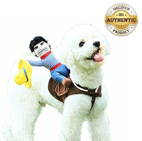 Dog Costume Pet Costume Pet Suit Cowboy Rider Style (Medium)
