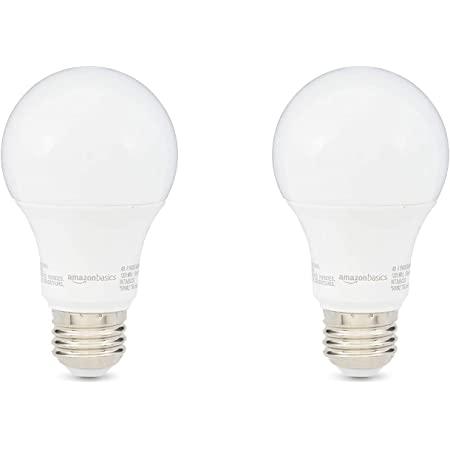 Amazon Basics 60W Equivalent, Soft White, Non-Dimmable, 10,000 Hour Lifetime, A19 LED Light Bulb | 2-Pack, 60 Watt