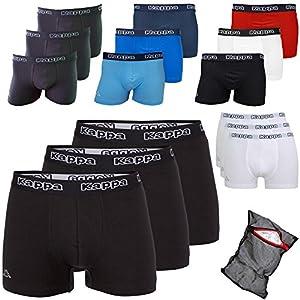 Kappa Ziatec Edition – Calzoncillos tipo boxer para hombre, S-5XL, con red de lavado, pack de 3, 6 y 9 unidades 2 (1x blanco, 1x Scarlet y 1x negro). XXXXXL