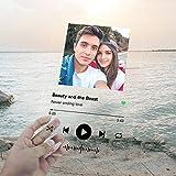 Targa musicale Spotify in acrilico, personalizzabile con fotografia, nome canzone, cantante e codice...