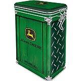 Nostalgic-Art - Barattolo da caffè retrò John Deere con coperchio salva-aroma, idea regalo per i fan del trattore, 1,3 l, colore: verde