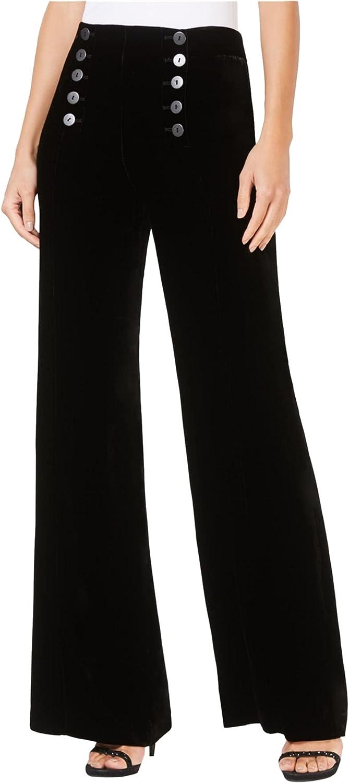 Nanette Lepore Womens Sailor Casual Wide Leg Pants, Black, 4