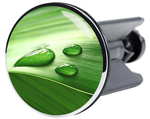 Waschbeckenstöpsel Green Leaf, passend für alle handelsüblichen Waschbecken, hochwertige Qualität ✶✶✶✶✶