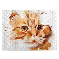 500ピース ジグソーパズル 猫の絵 可愛い パズル 木製パズル 動物 風景 絵 ピクチュアパズル Puzzle 52.2x38.5cm